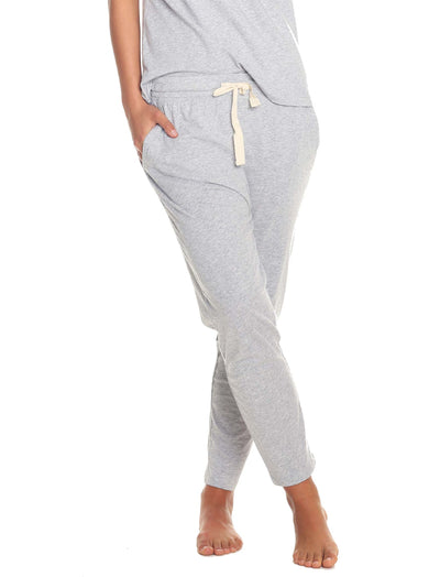 Organic Cotton Knit Pant in Grey Marl