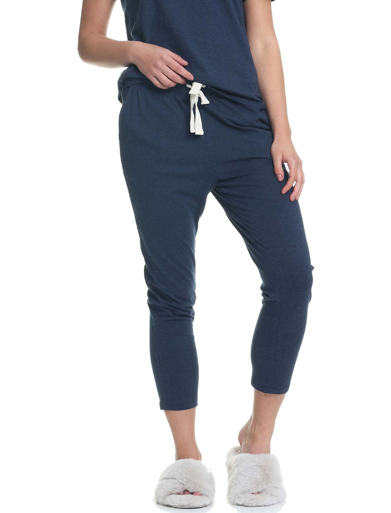 Organic Knit Pant in Navy