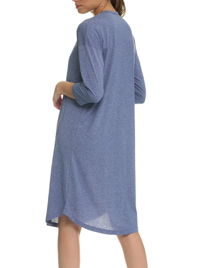Unwind Nightgown in Indigo