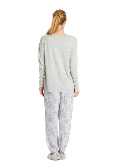 V-Neck Boxy Pullover in Grey