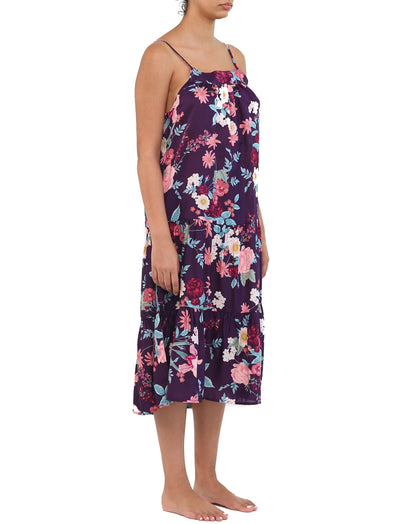 Violaine Prune Tiered Nightgown