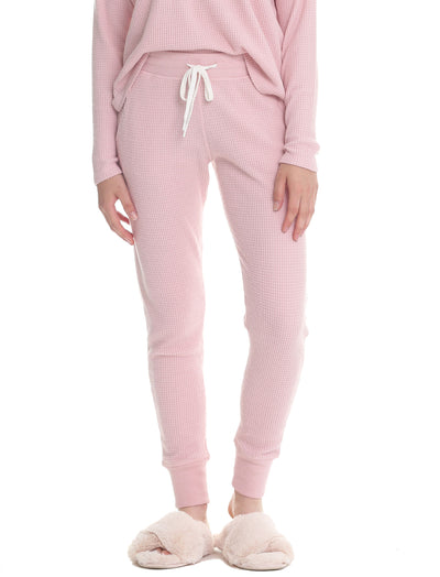 Super Soft Waffle Jogger in Pink