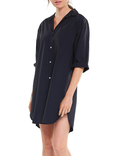 Whale Beach Nightshirt in Black