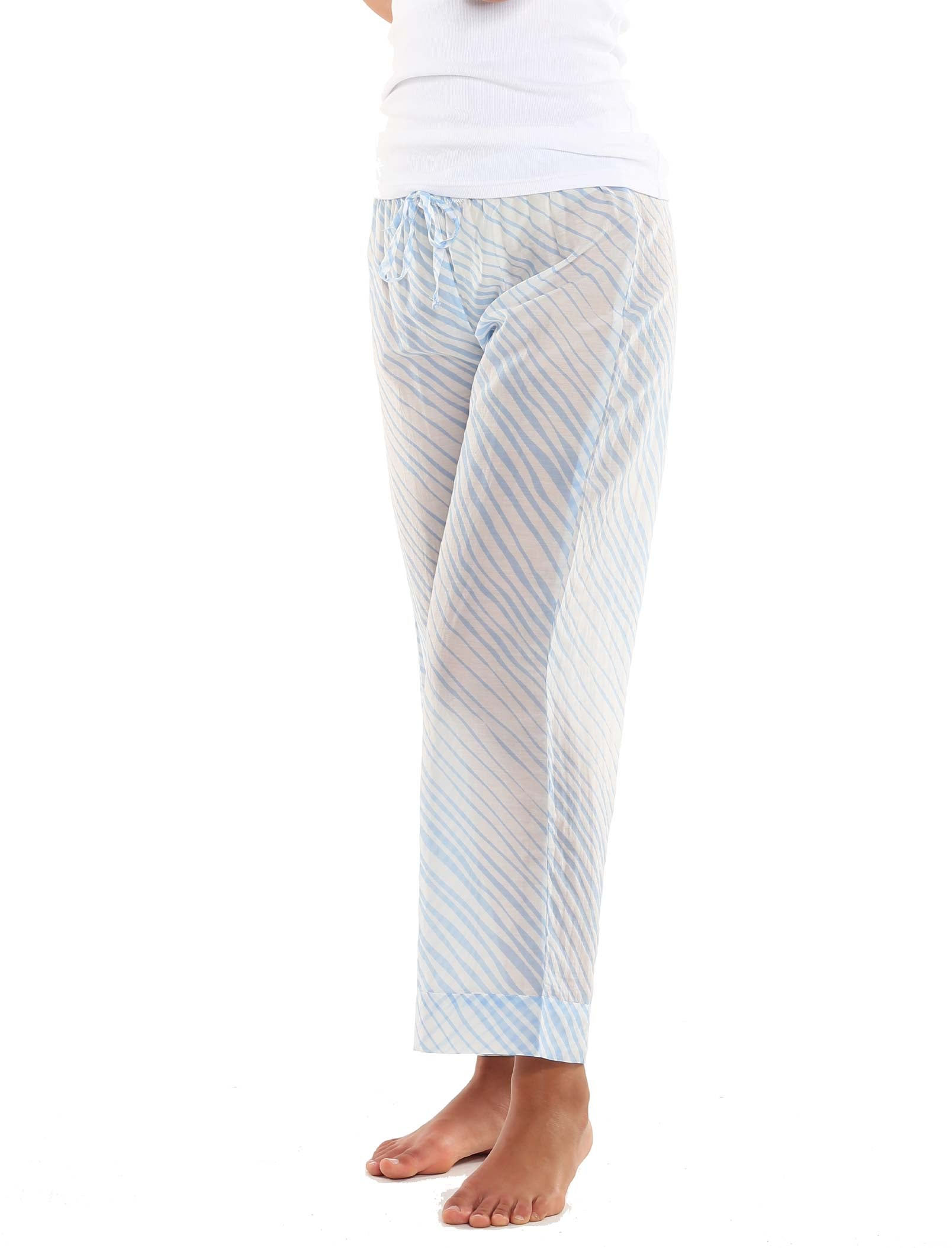 Zebra Blue Full Length Pant