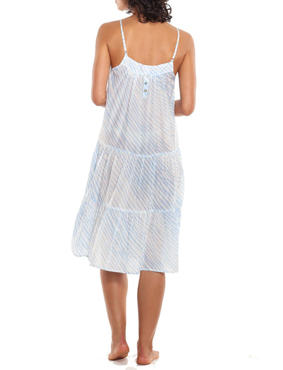 Zebra Blue Tiered Nightgown