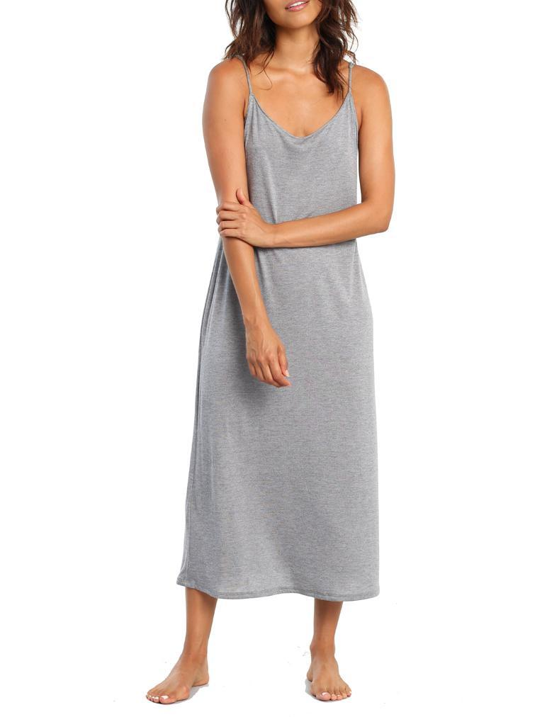 Basic Maxi Knit Nightgown in Grey