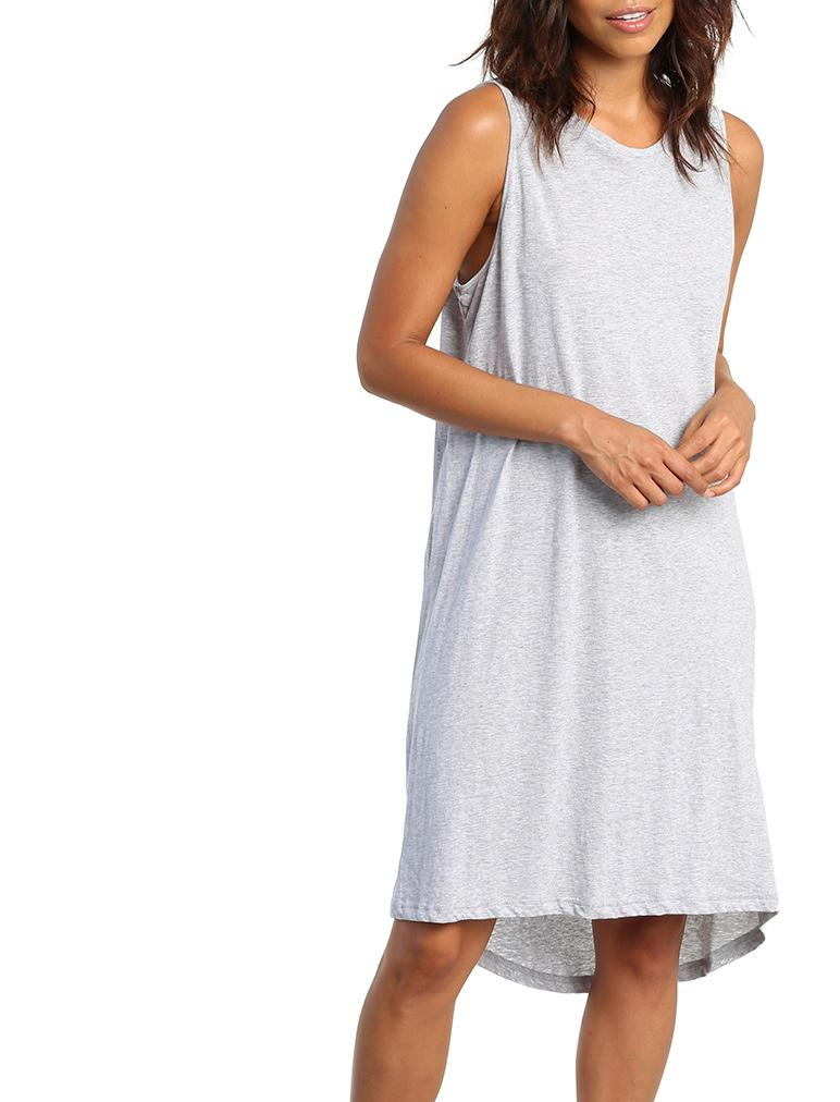 Classic Knit Nightgown in Grey