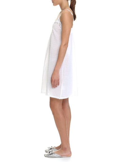 Swiss Dot White Nightgown