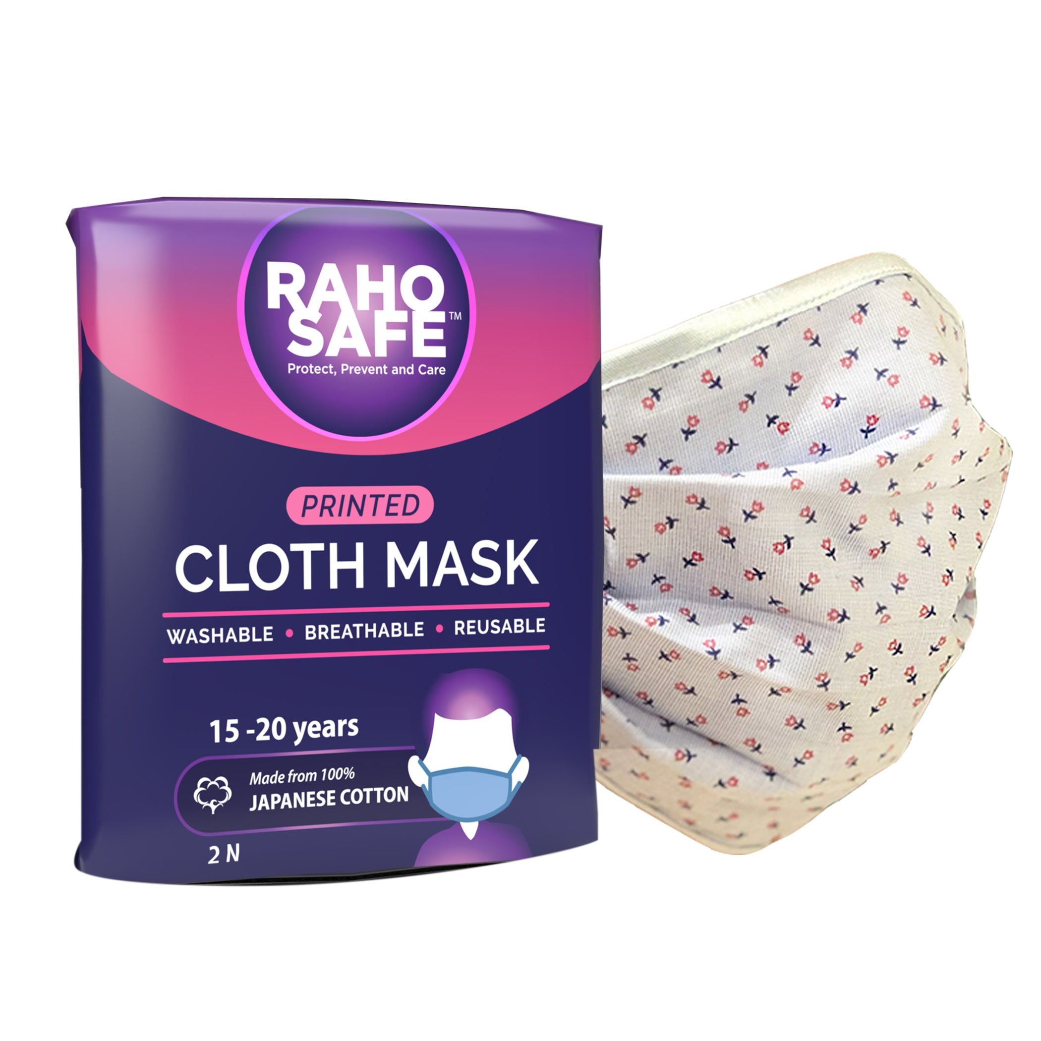 Printed Cloth Mask (Pack of 2) - Large