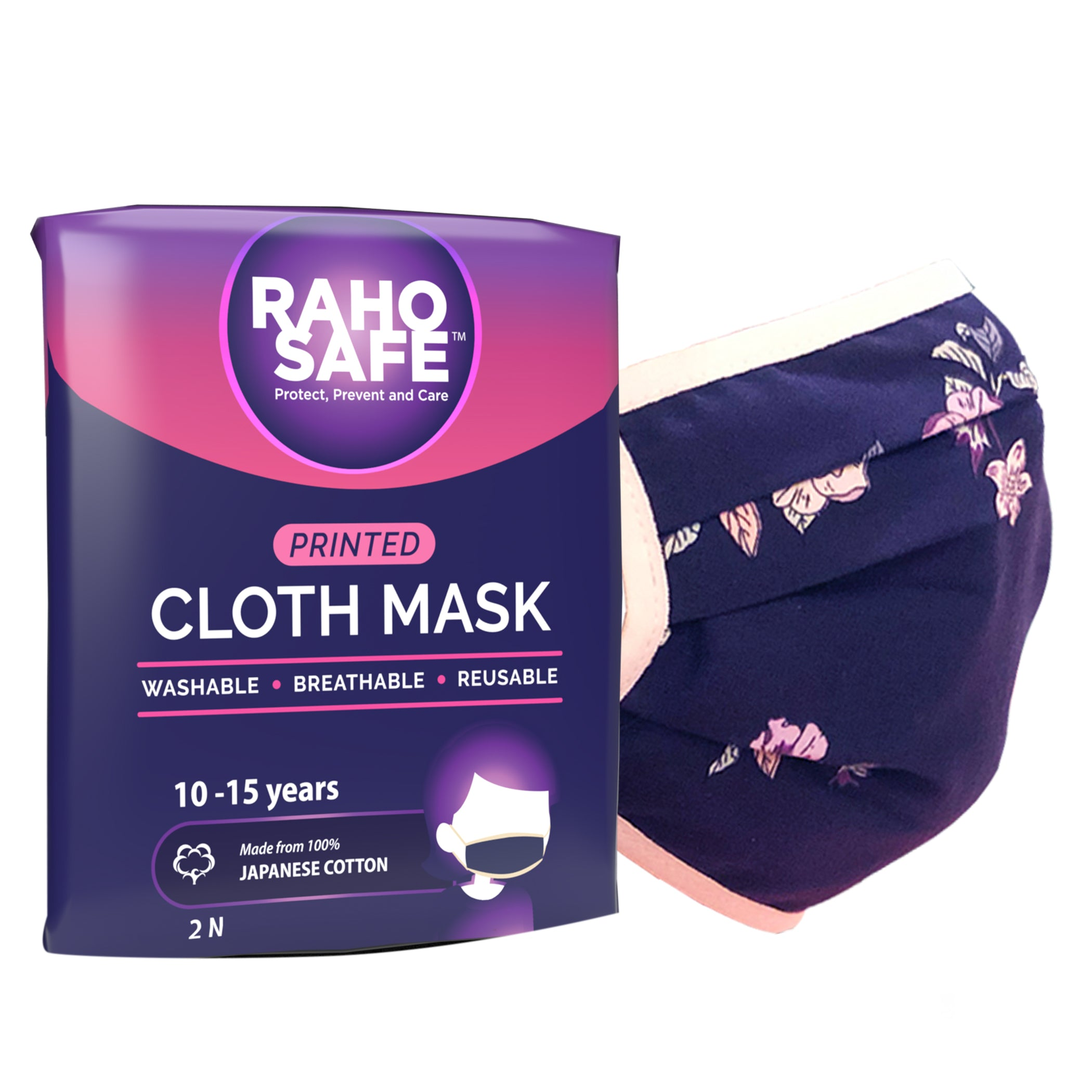Printed Cloth Mask (Pack of 2) - Medium