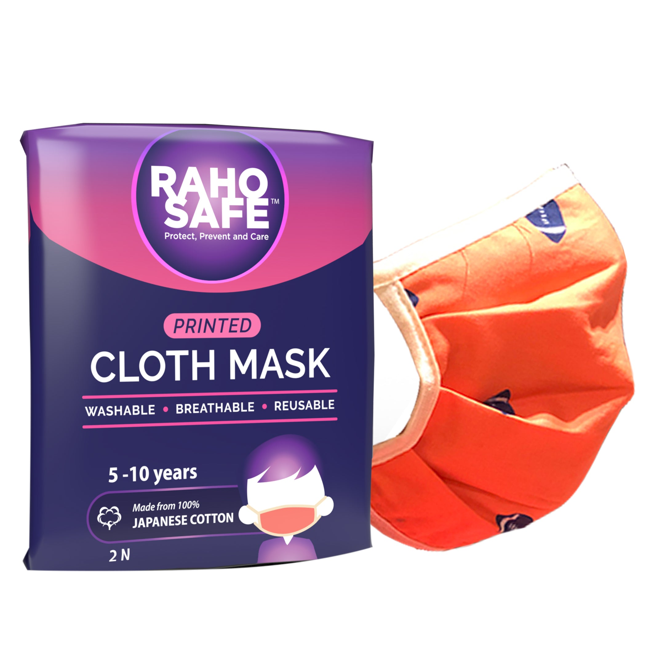 Printed Cloth Mask (Pack of 2) - Small
