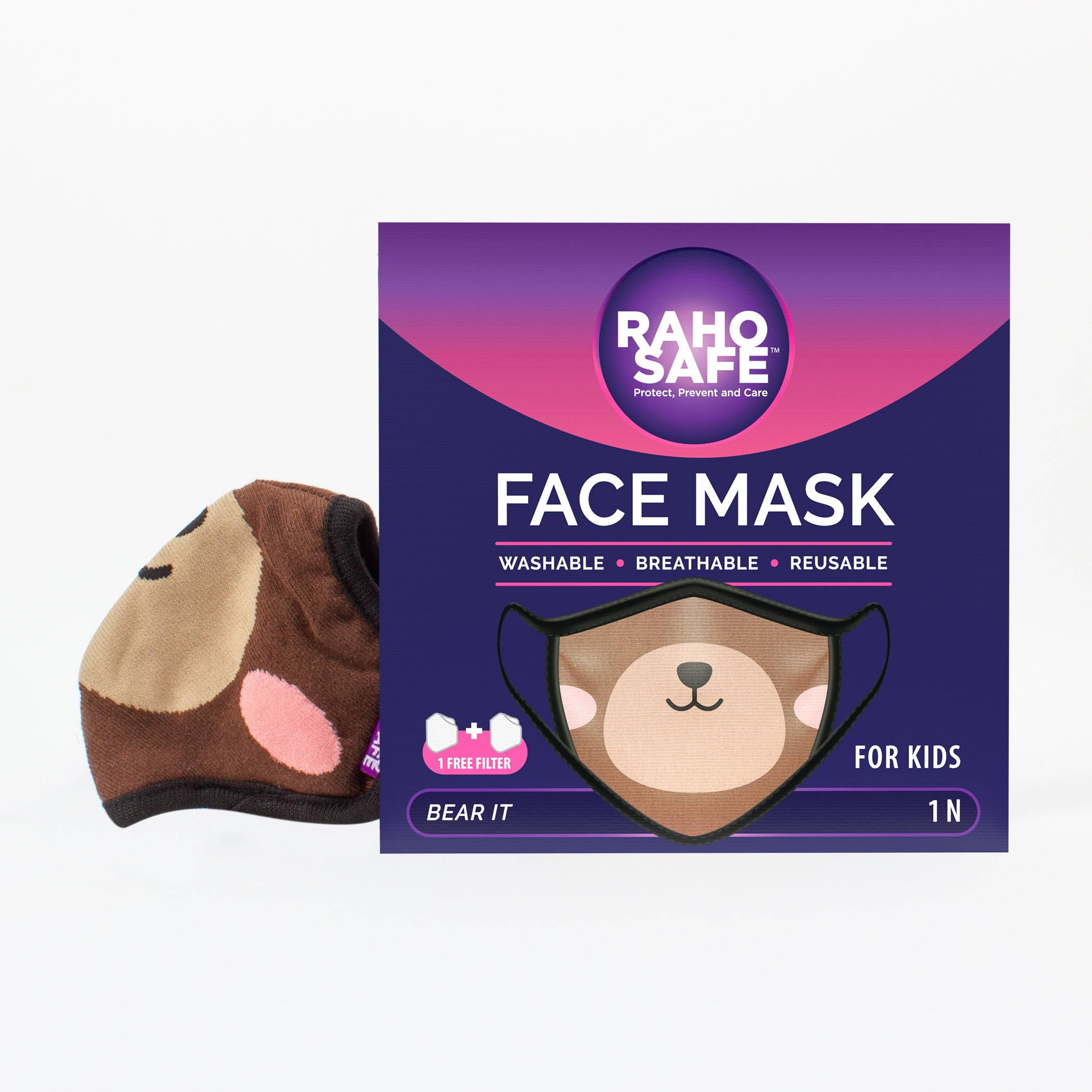 Bear It Face Mask for Kids