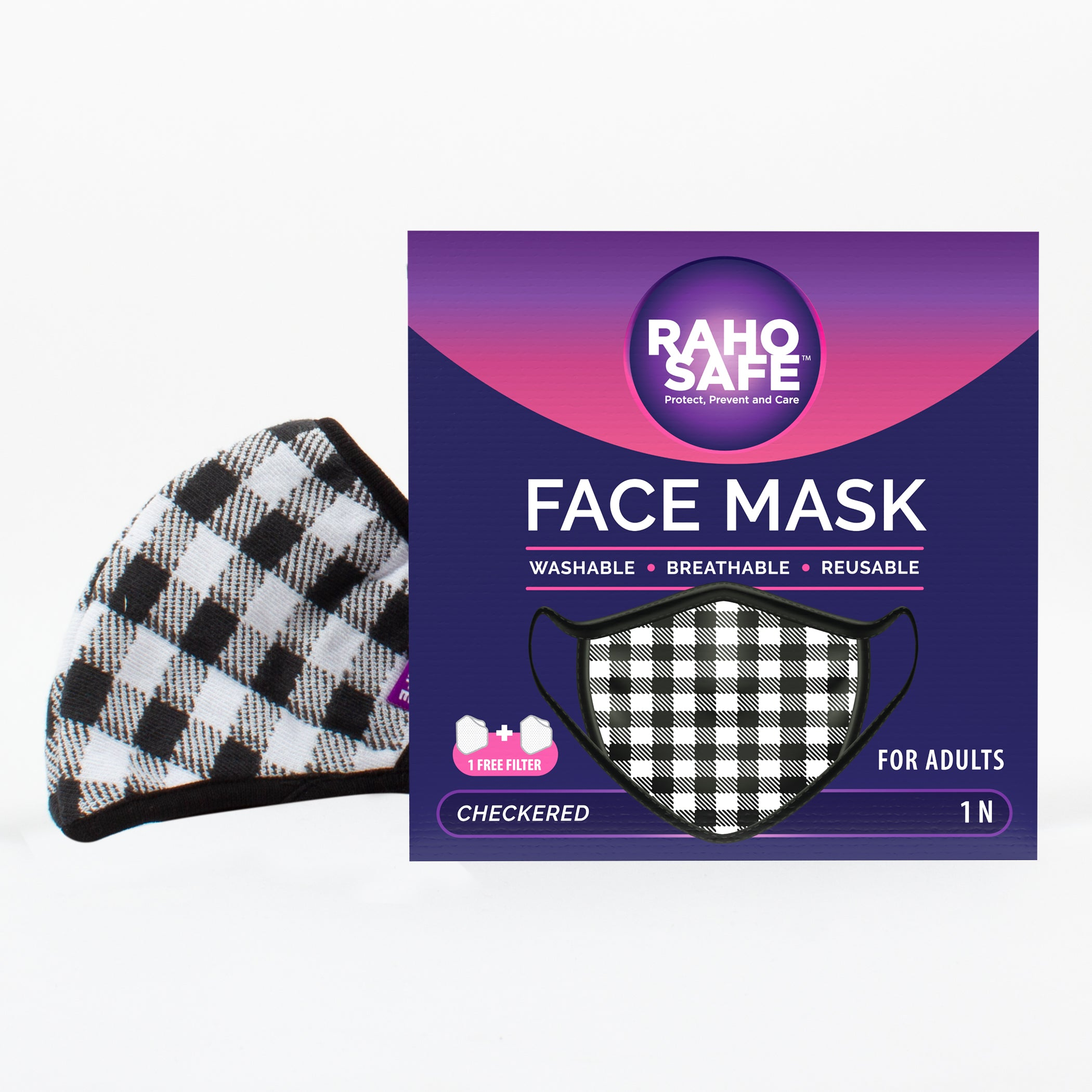 Checkered Face Mask for Adults
