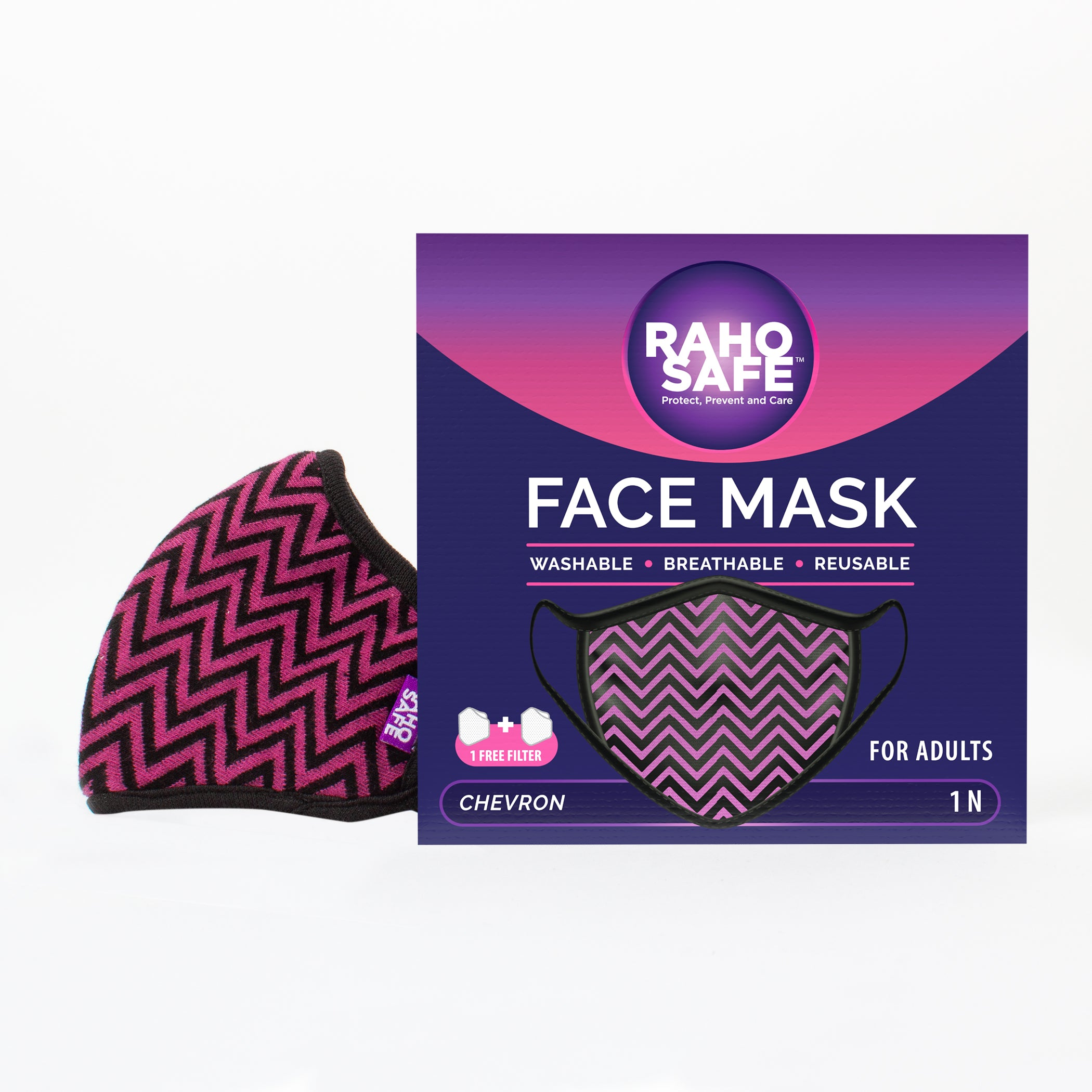 Chevron Face Mask for Adults