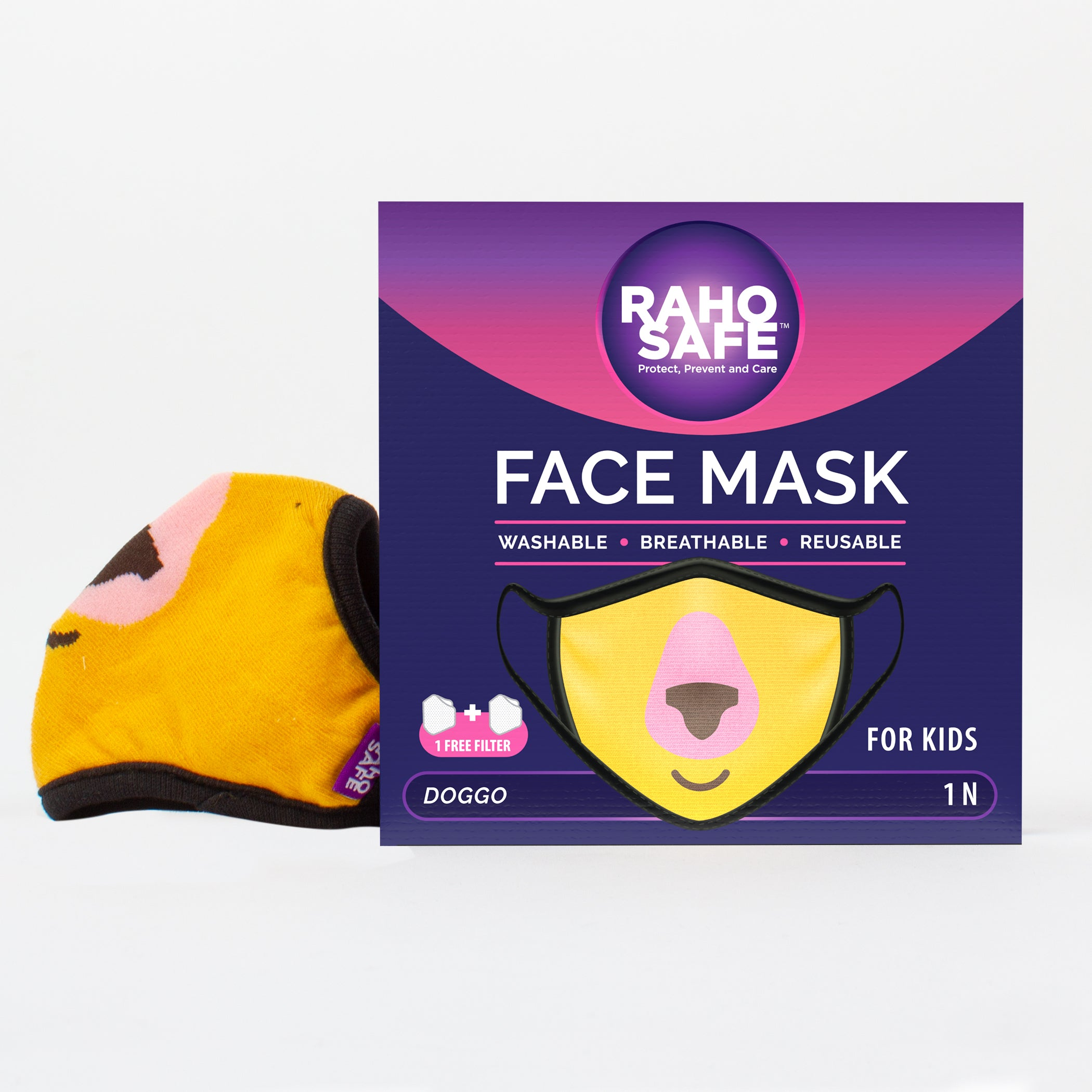 Doggo Face Mask for Kids