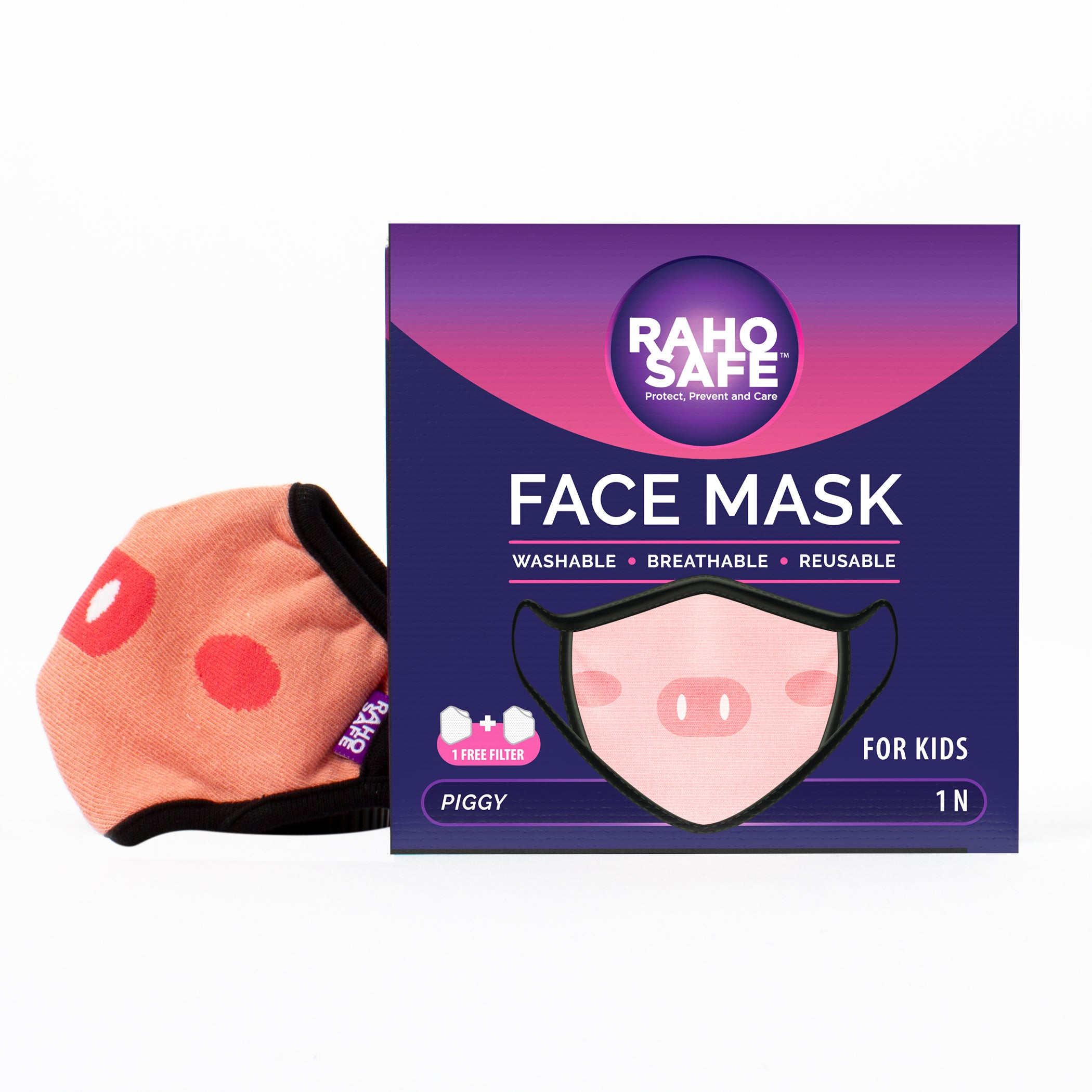 Piggy Face Mask for Kids (Qty - 1N)