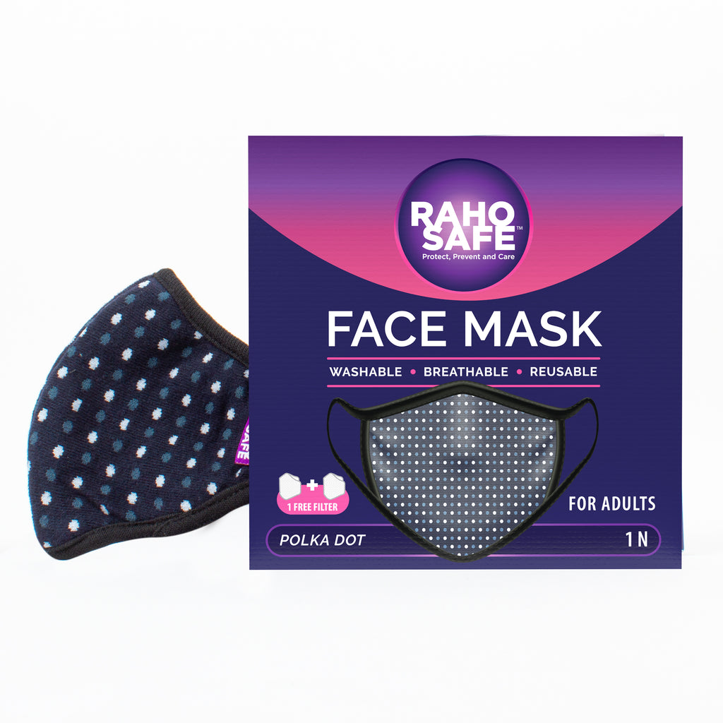 Polka Dot Face Mask for Adults
