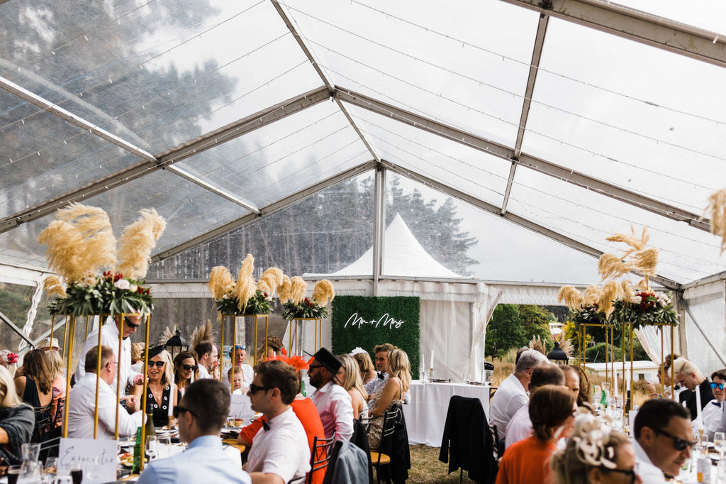 Paige & Kurt's countryside wedding reception