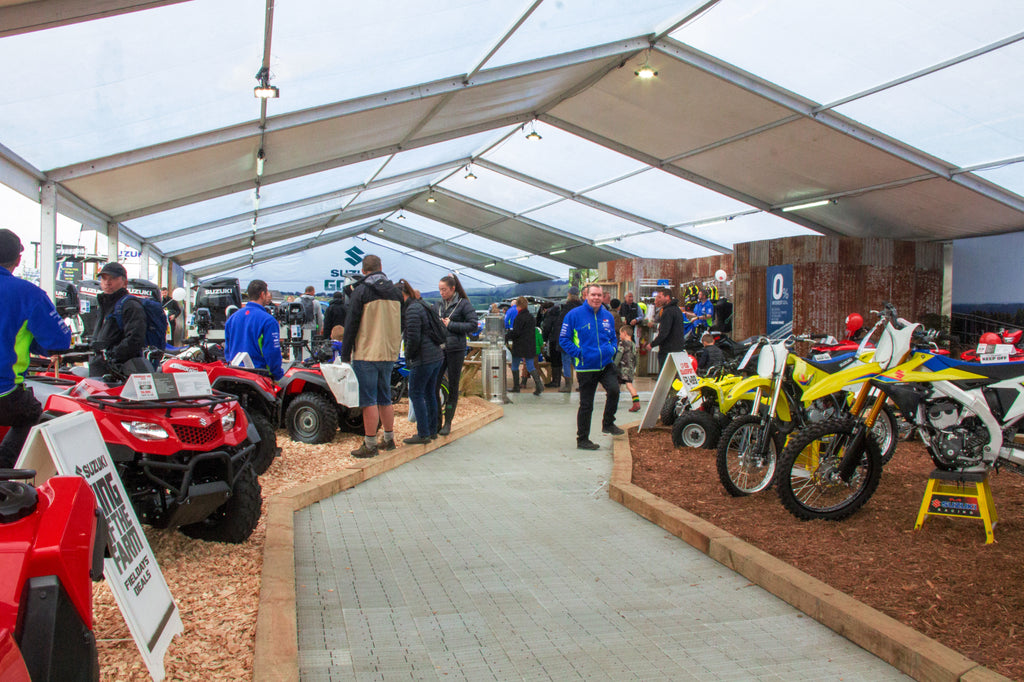 Fieldays marquees for Mystery Creek