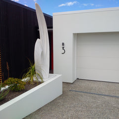 picture perfect in new zealand Modern House Numbers