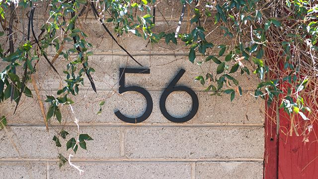 "6"" Palm Springs black powder coated numbers"