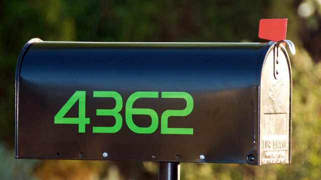South Beach green mailbox numbers