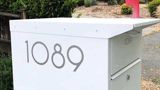 SoCal silver mailbox numbers
