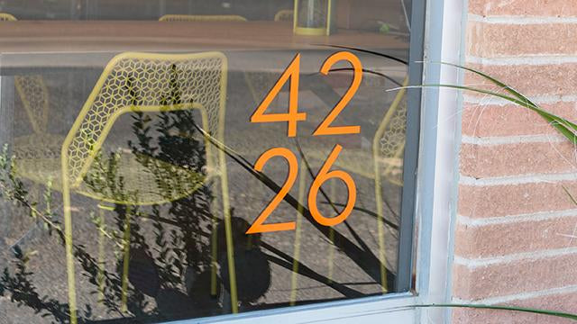 Palm Springs orange vinyl numbers