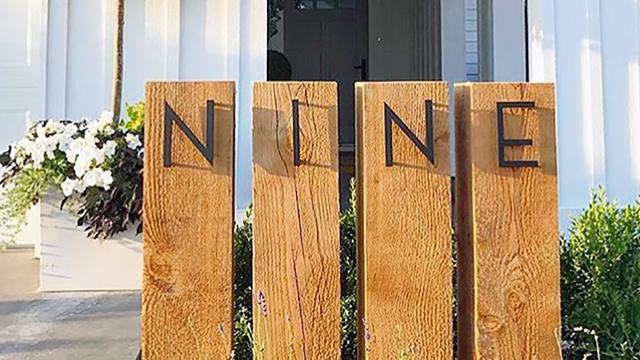 Palm Springs dark bronze powder coated letters