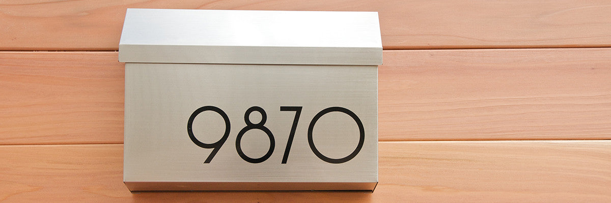 Modern Address Numbers Letters Plaques And Mailbox Numbers