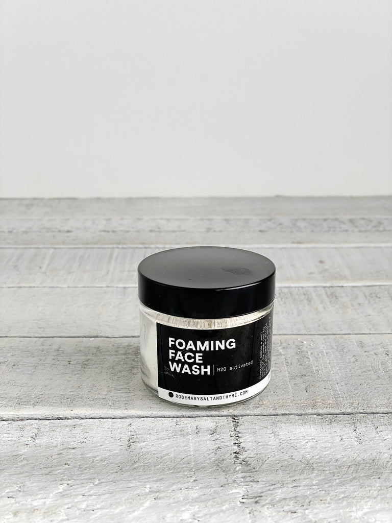 H20 Activated Foaming Face Wash - Rosemary, Salt + Thyme
