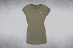 Women's Extended Shoulder Tee - HCH Logo