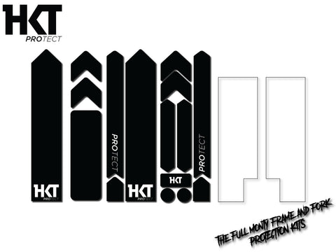 HKT Protect - Full Monty Frame and Fork Protection Kit - Black