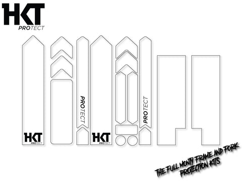HKT Protect - Full Monty Frame and Fork Protection Kit - Clear