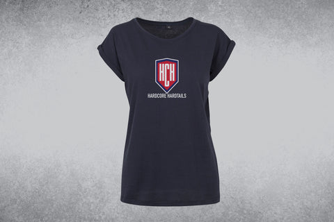 Women's Extended Shoulder Tee - HCH Central Logo