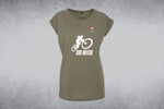 Women's Extended Shoulder Tee - Ride British Logo