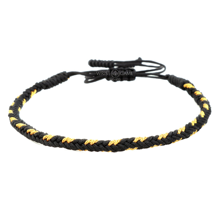 MONK BARACELET BLACK & GOLD