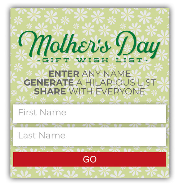 mother's day registry