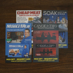 Prank Gift Card 4 Pack