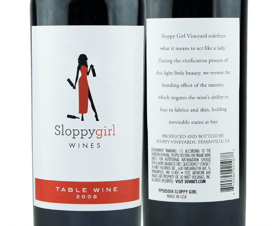Sloppy Girl Wine Label