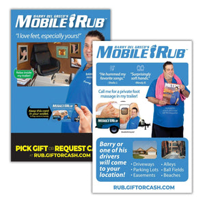 Mobile Rub Gift Card Insert