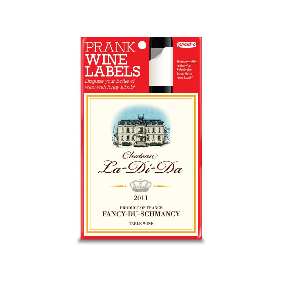 Chateau La-Di-Da Wine Label