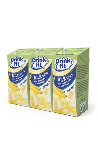 Drinkfit - Banane 200ml 3er-Pack Milchbubie