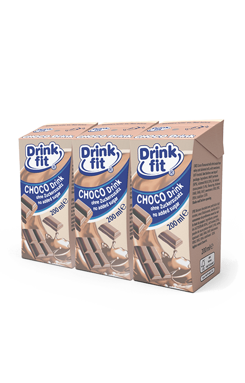 Drinkfit - Choco 200ml 3er-Pack Milchbubie