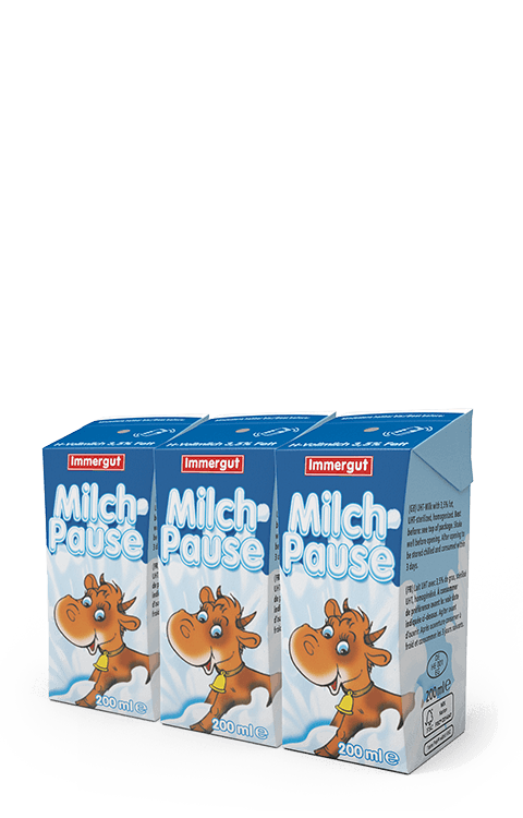 Milchpause - H-Vollmilch (3,5%) - 3x 200ml Milch pur Milchbubie