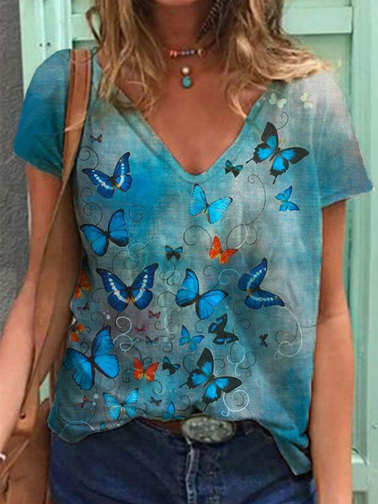 Butterfly Painting Print T-shirt