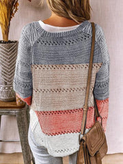 Colourful Stripe Long Sleeve Knitted Sweater