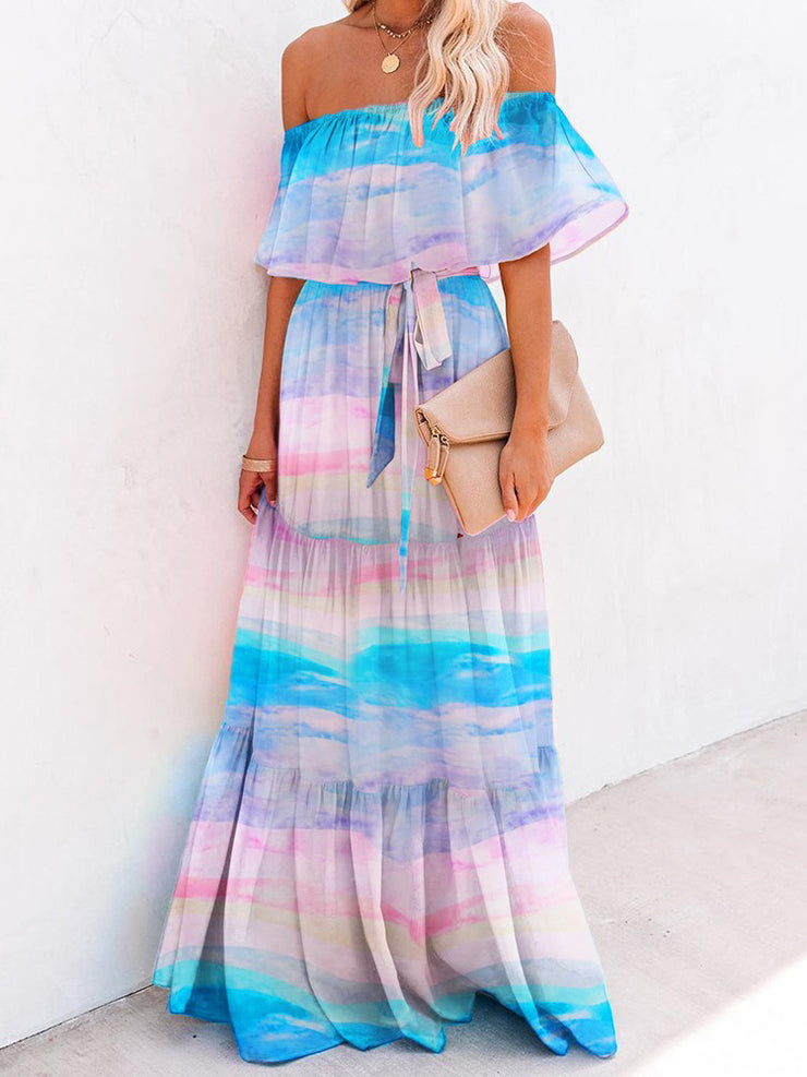 Wrap Around Pleated Hem Dress