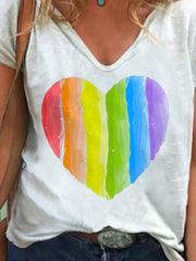 Color Love Print T-shirt