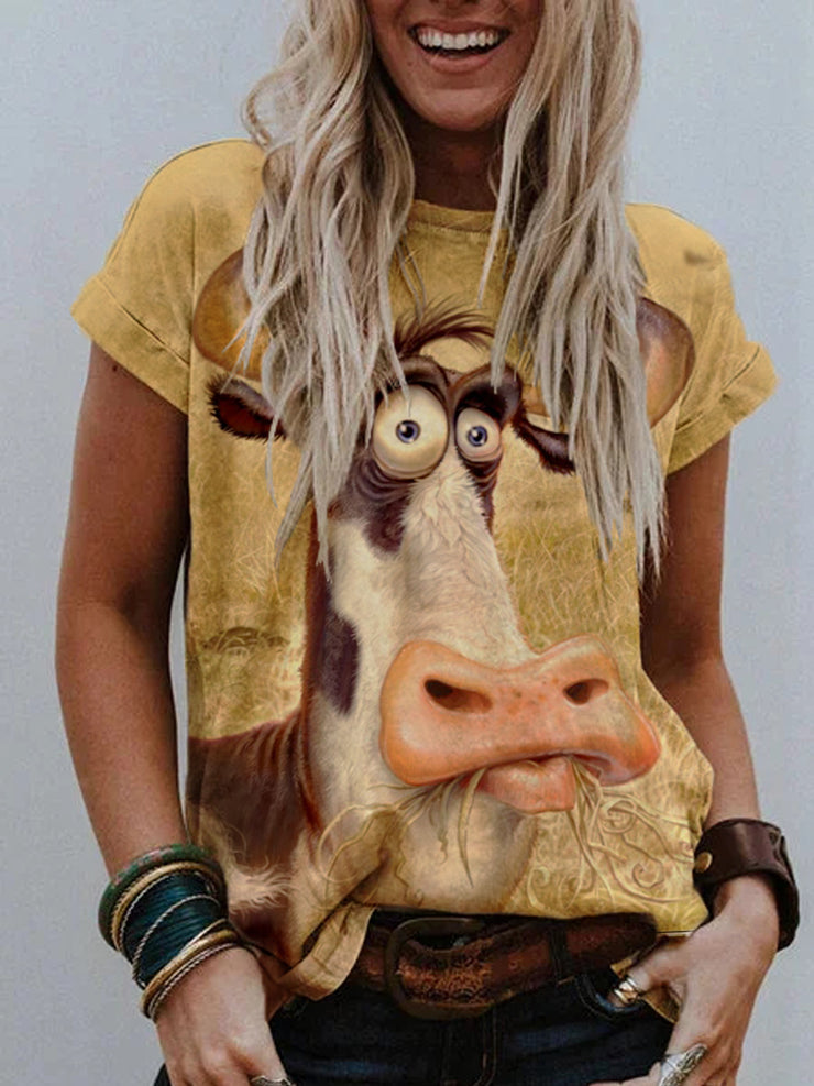 Cow Painting Print T-shirt
